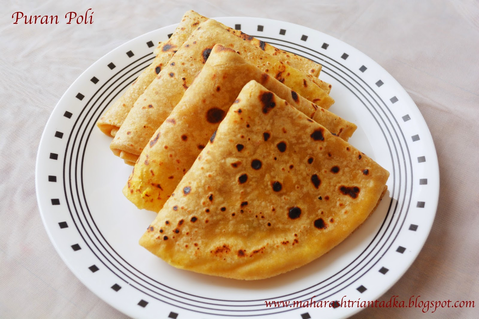 Heat The Pan And Roast The Puran Poli Well From Both Sides Apply Ghee Clarified Butter To Puran Poli Puran Poli Is Ready