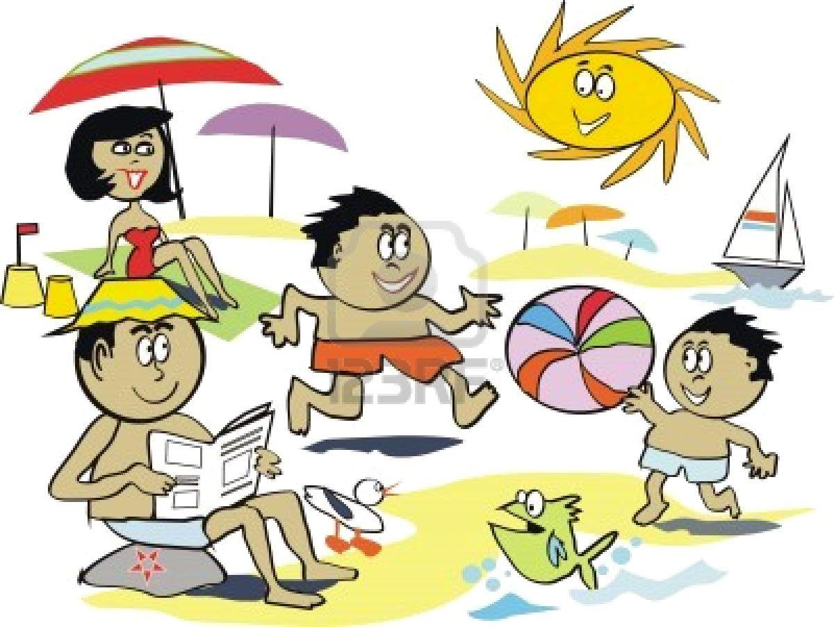 Cartoon Beach People to Pin on Pinterest PinsDaddy