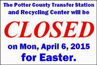 4-6 Potter County Transfer Station Closed