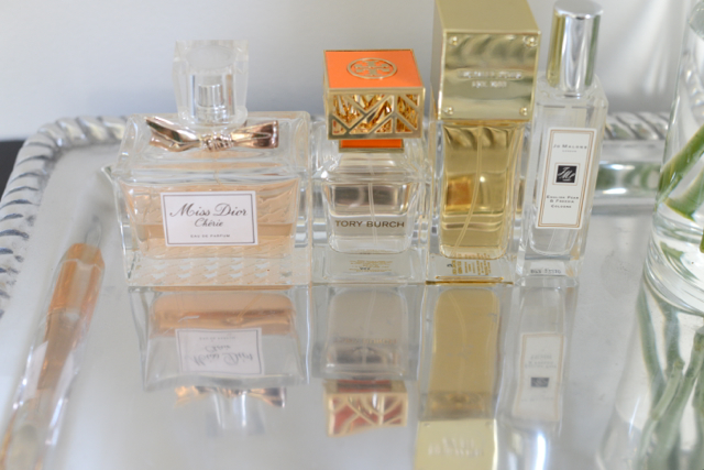 M Loves M favorite perfumes - Michael Kors Sexy Amber, Dior Miss Dior Cherie, Jo Malone English Pear and Freesia and Tory Burch Tory Burch