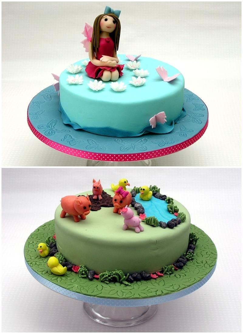 Fairy cake Fondant Farm pig duck