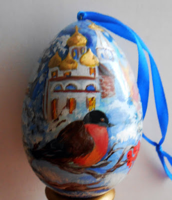 Egg Christmas  in russian handmade