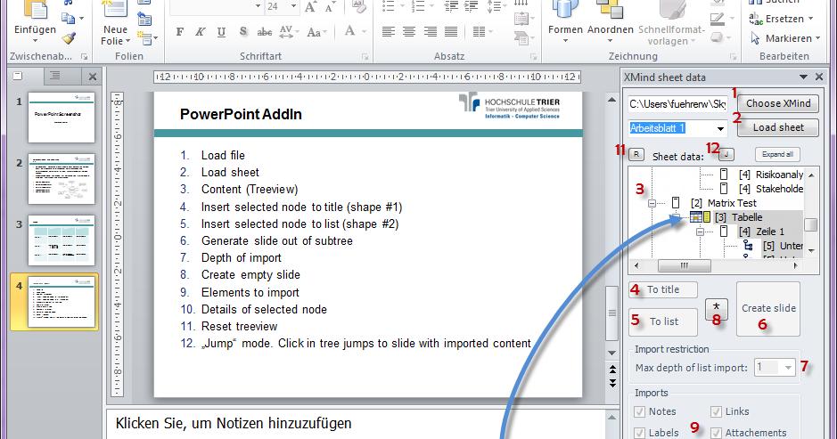 PowerPoint 2010 AddIn for XMind | Wolfgang Führer