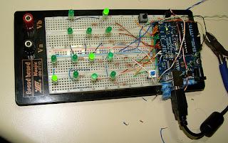 relógio binário com Arduino
