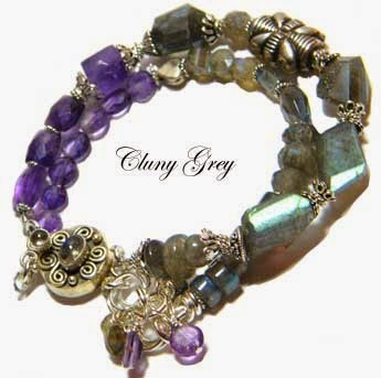 labradorite and amethyst gemstone bracelet
