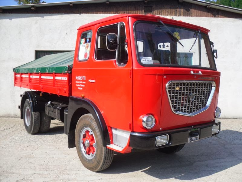 allestimento betoniere su camion Lancia+esadelta+1969
