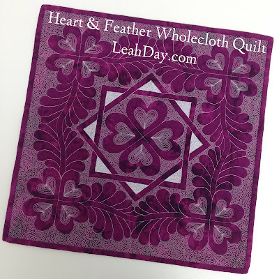How to make a wholecloth quilt - http://leahday.com/products/heart-wholecloth