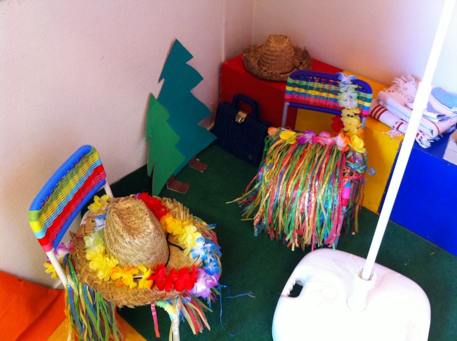 Kleuterjuf in een kleuterklas thema zomer for Decoratie zomer