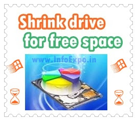 www.infoexpo.in --Shrink any existing drive to create more drives
