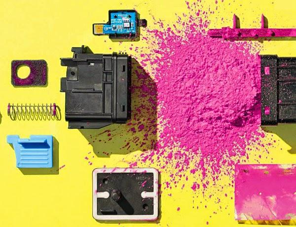 inside laser printer toner