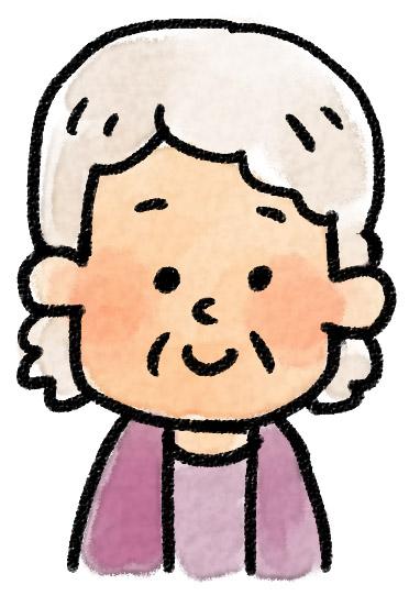 いろいろな表情のイラスト おばあさん ゆるかわいい無料イラスト素材集