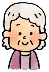 おばあさんの表情のイラスト(通常)