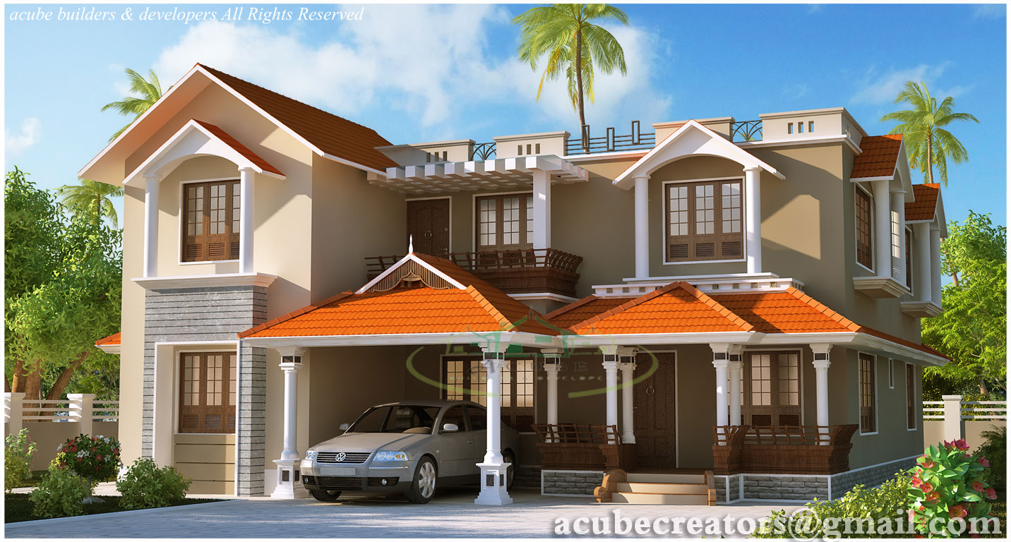 Kerala style dream home elevations 2980 sq ft plan 135 for Kerala dream home plans