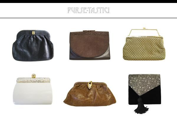 Vintage Fendi leather clutch, vintage purses, vintage evening bags from CutandChicVintage on Etsy