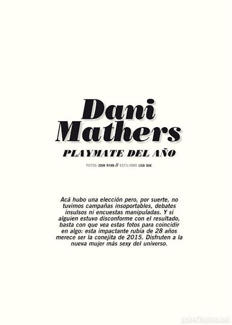 Fotos Dani Mathers Revista Playboy Argentina - Junio 2015