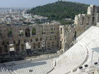El Teatro de Herodes Aticus en Atenas. Historia de Grecia Antigua. Arquitectura de grecia. Grecia Antigua