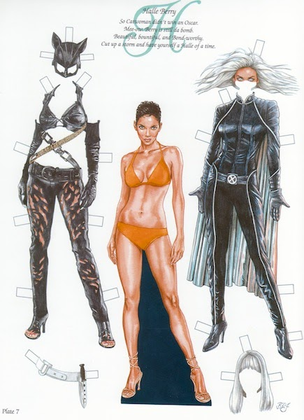 The Paper Collector Halle Berry Paper Dolls By Bruce