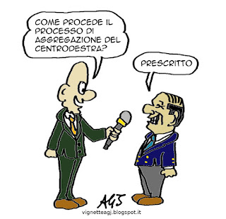 Berlusconi, centrodestra, satira, vignetta