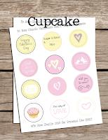 Printable Cupcake Toppers