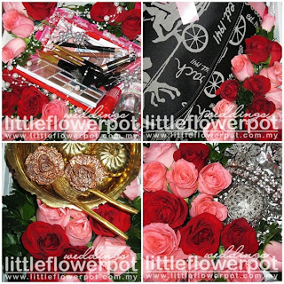 pink and brown wedding flower arrangements
