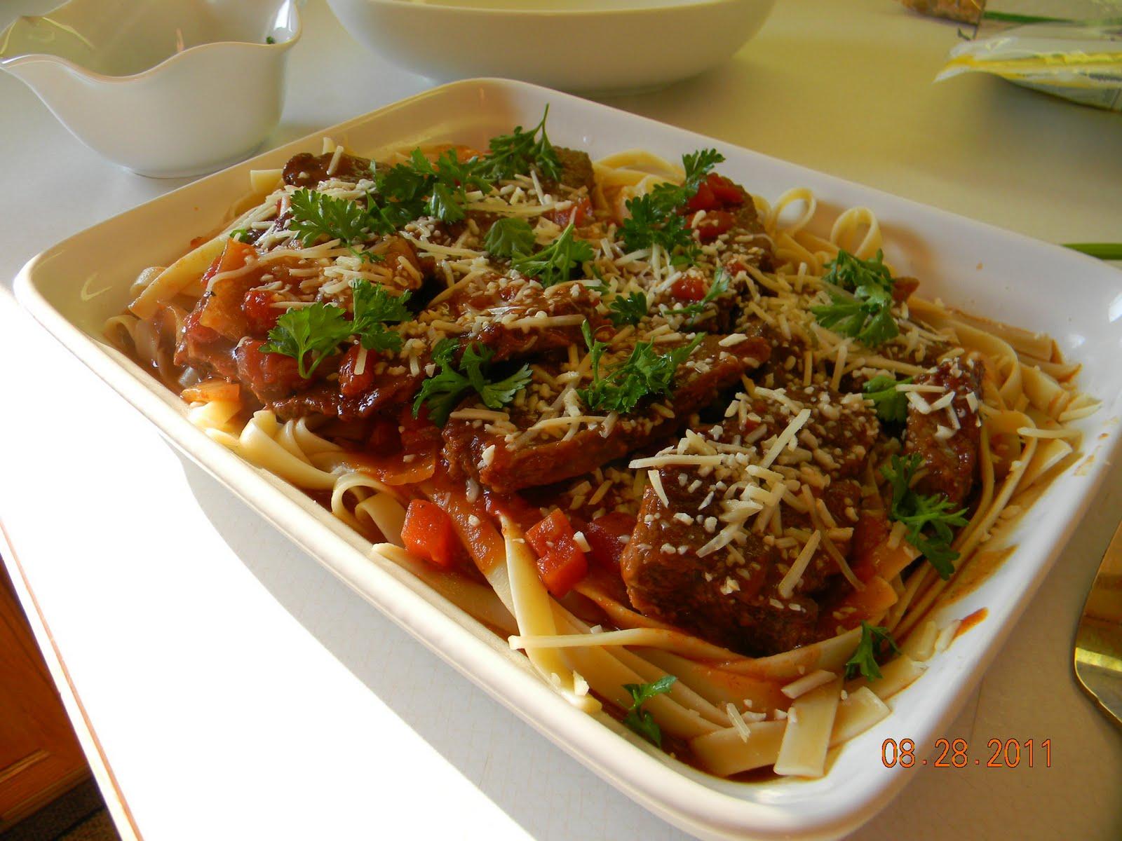 Simply Delicious Everyday: Recipe: Boneless Short Ribs in Tomato Sauce