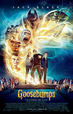 Poster Of Free Download Goosebumps 2015 300MB Full Movie Hindi Dubbed 720P Bluray HD HEVC Small Size Pc Movie Only At cintapk.com