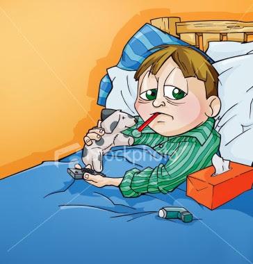 penyakit, balik, selsema, flu