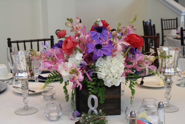 Floral Centerpieces - Toftrees Penn State Wedding - Splendid Stems Floral Designs