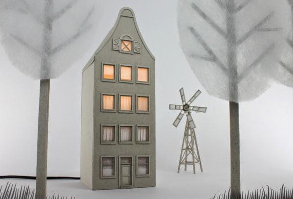 Bookbike Van Byografia : Cardboard lamps by vera van wolferen