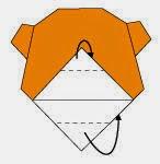 Bước 8: Gấp 2 lớp giấy về phía sau như hình vẽ dưới.
