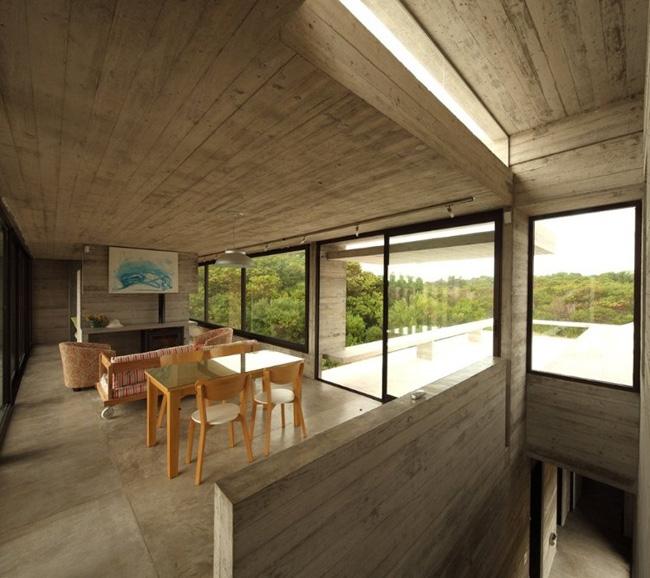 Casas minimalistas y modernas casa de hormigon moderna en for Casas minimalistas en argentina