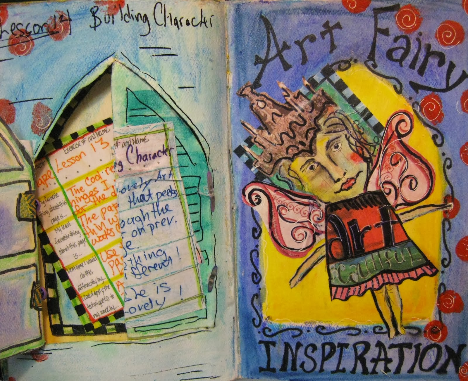 Art Fairy Inspiration Art Journal Page