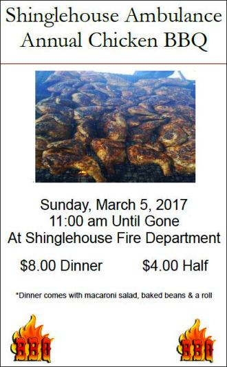 3-5 Annual Chicken BBQ, Shinglehouse
