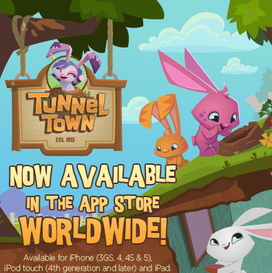Animal Jam's Mobile App! TUNNEL TOWN!
