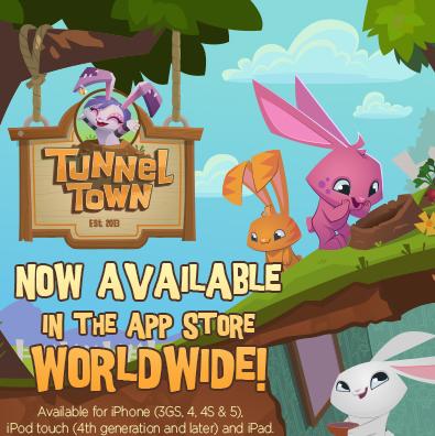 Animal Jam's Mobile App! TUNNEL TOWN!