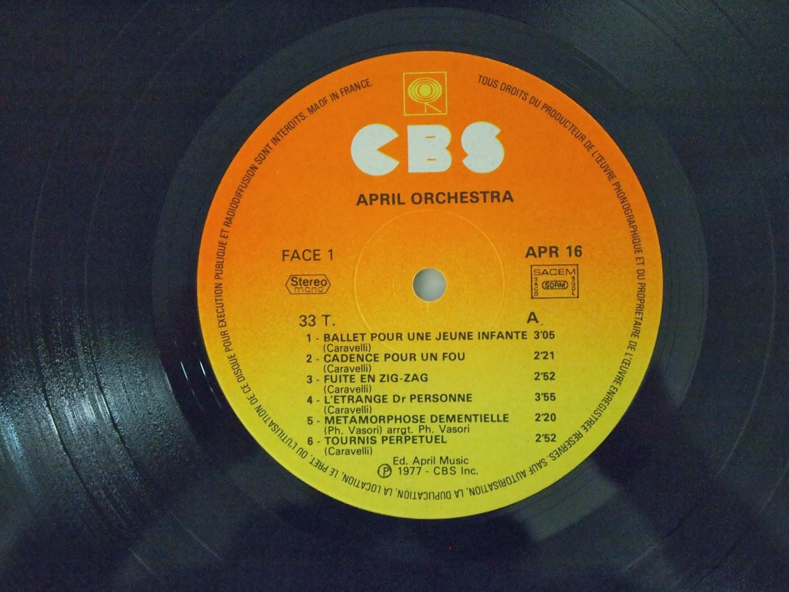 Patrick Vasori Caravelli April Orchestra Vol 31 Claviers Electroniques