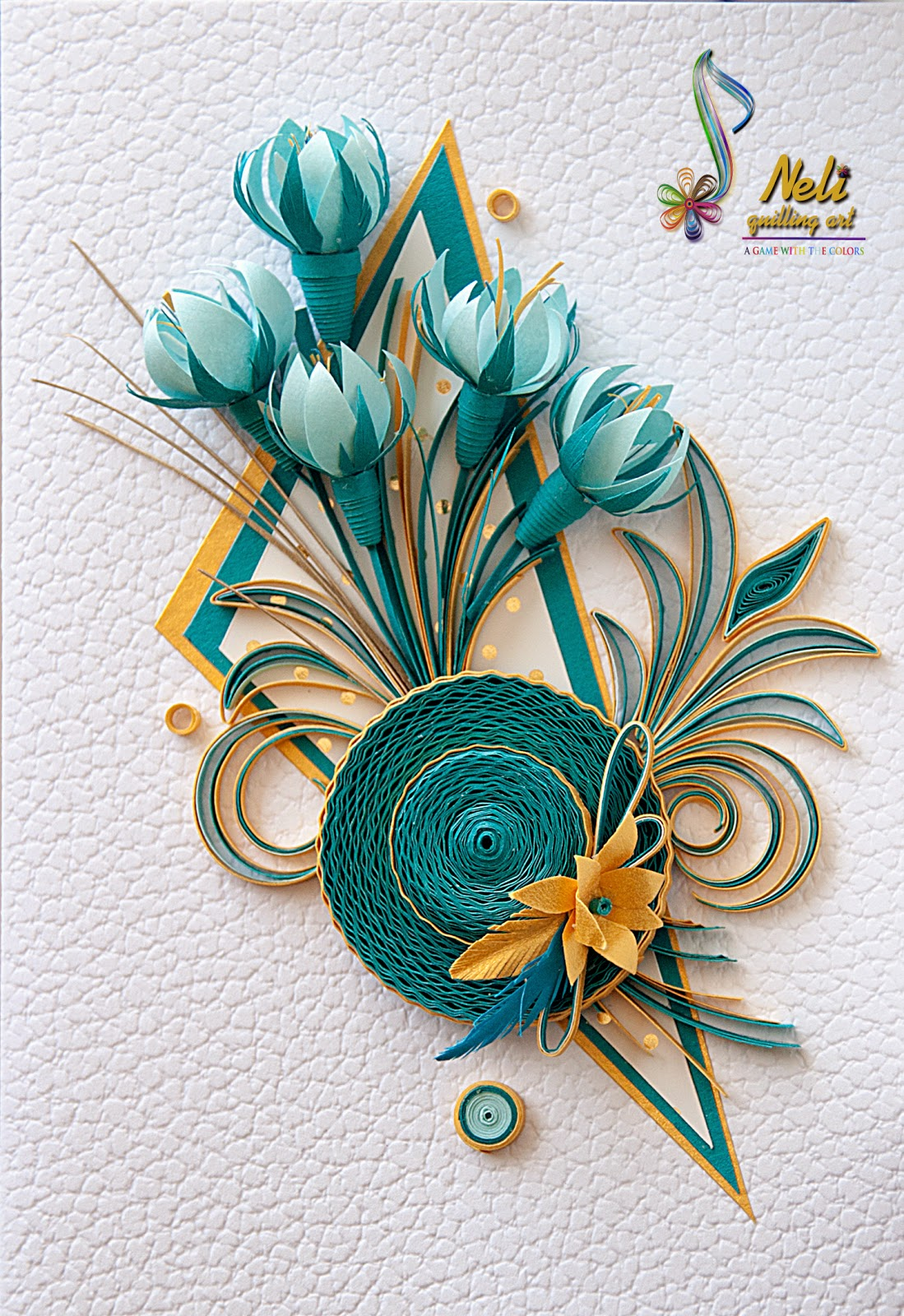 Neli quilling art quilling cards flowers for Quilling paper art