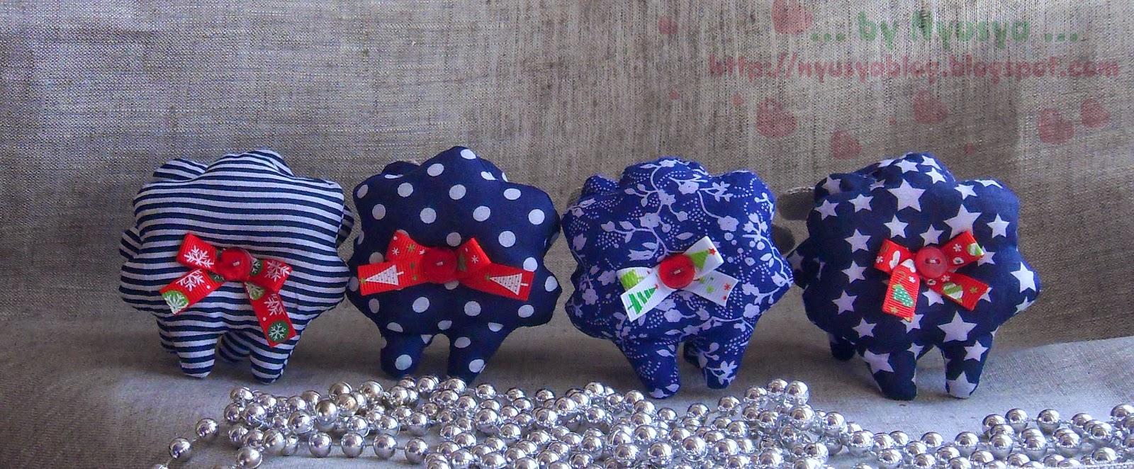 синие овечки на Новый год