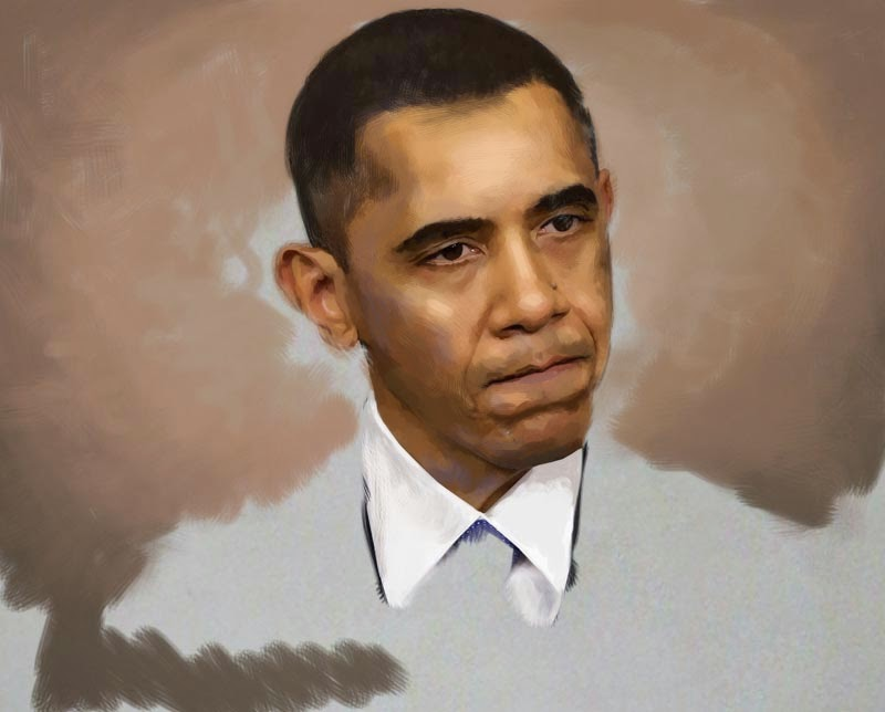 painting of obama american president