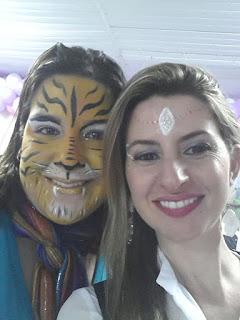 Pintura Facial de Tigresa e Princesa