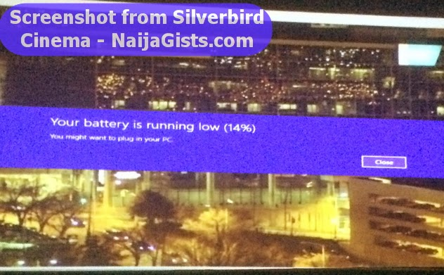 silverbird cinema abuja battery low