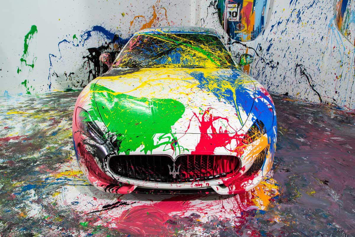 The Gear Shift Art Basel Miami Supercar Art