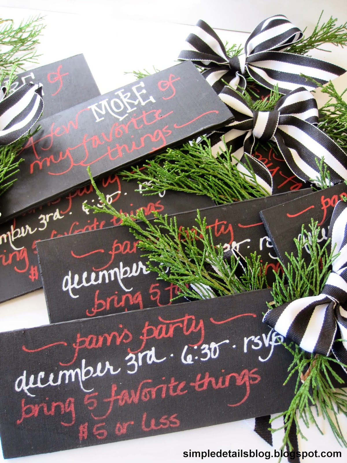 Simple Details: 13th annual christmas party invites...