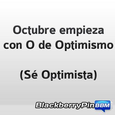 Octubre con O de Optimismo