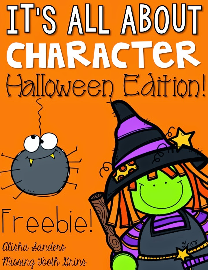 http://www.teacherspayteachers.com/Product/Character-FREEBIE-Halloween-Edition-1447656