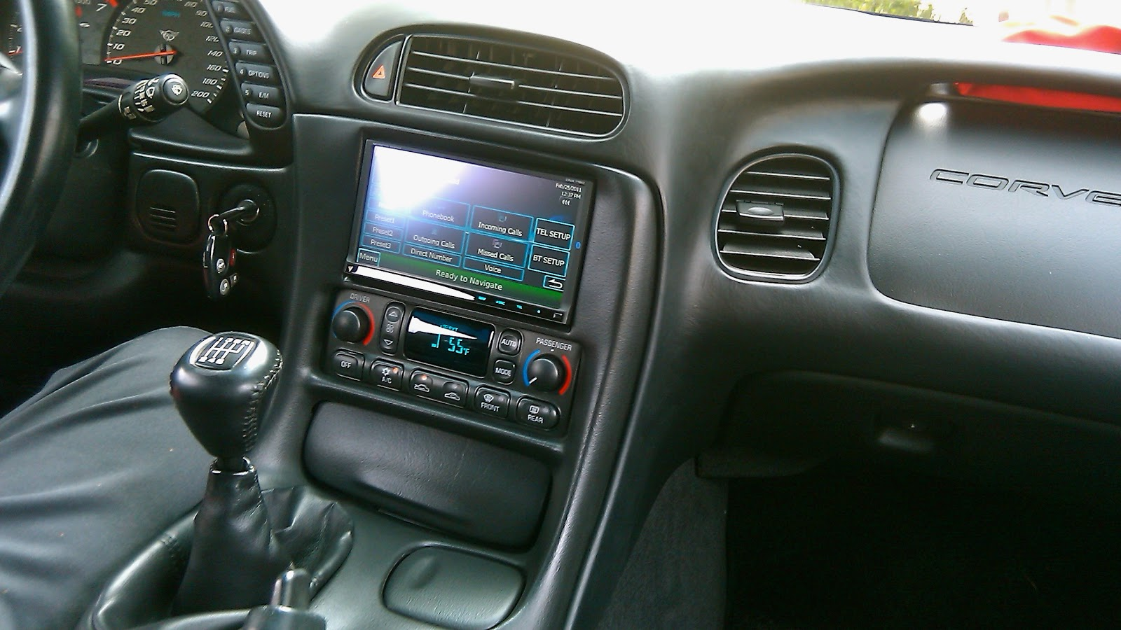 1997 2004 C5 Corvette Double Din In Dash Car Stereo Install Yes It 97 Integra Engine Diagram