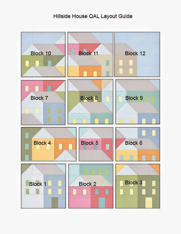 Quilt Block Patterns Of Houses : Pretty Little Quilts: Hillside Houses QAL: Laying Out Your Blocks