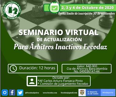 Seminario Virtual de ACTUALIZACION ARBITROS INACTIVOS (Dar clic a la imagen)