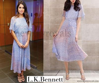 Nikki Reed wore LK Bennett Madison Dress