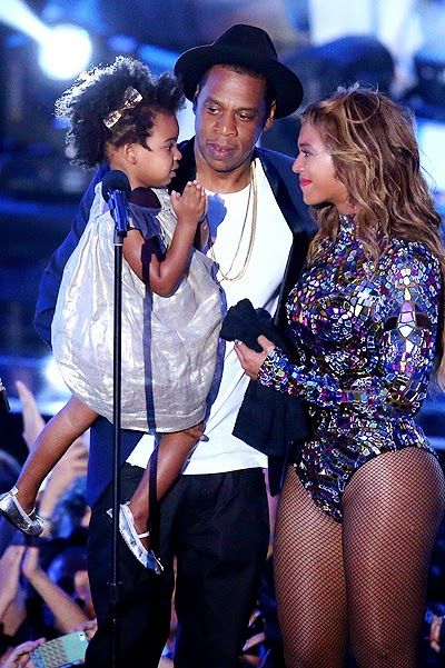 Jay-Z, Blue Ivy and Beyonce_MTV Video Music Awards 2014